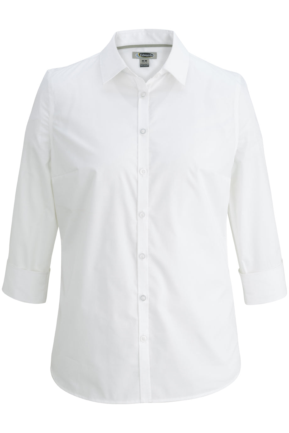 Edwards Ladies 3/4 Sleeve Stretch Broadcloth Shirt