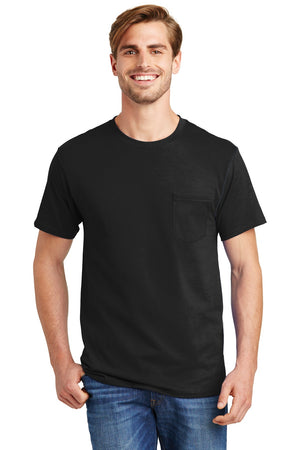 Hanes - Tagless 100% Cotton T-Shirt with Pocket