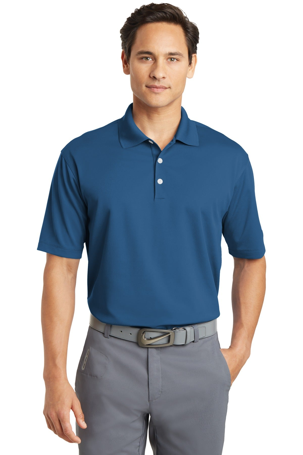 Court Blue Nike Tall Dri-FIT Micro Pique Polo.