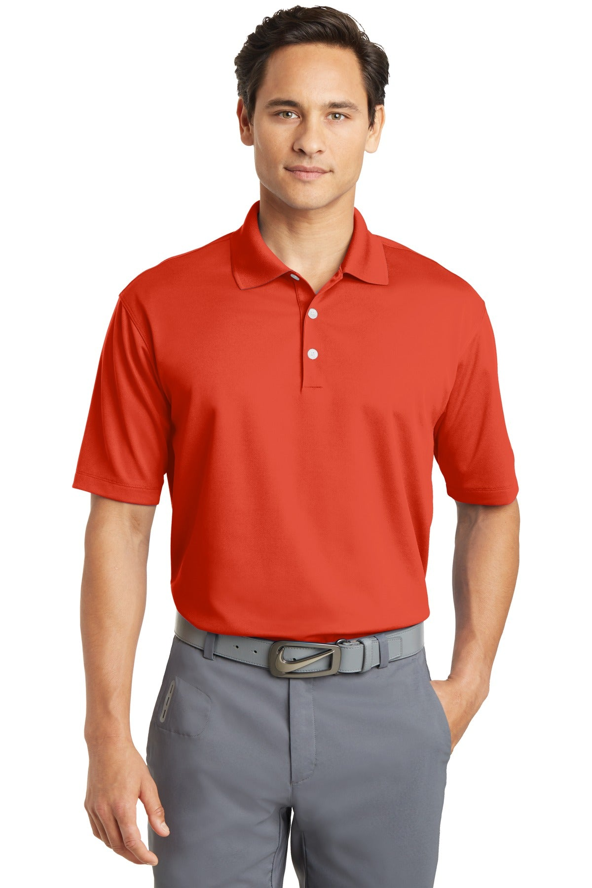 Team Orange Nike Tall Dri-FIT Micro Pique Polo.