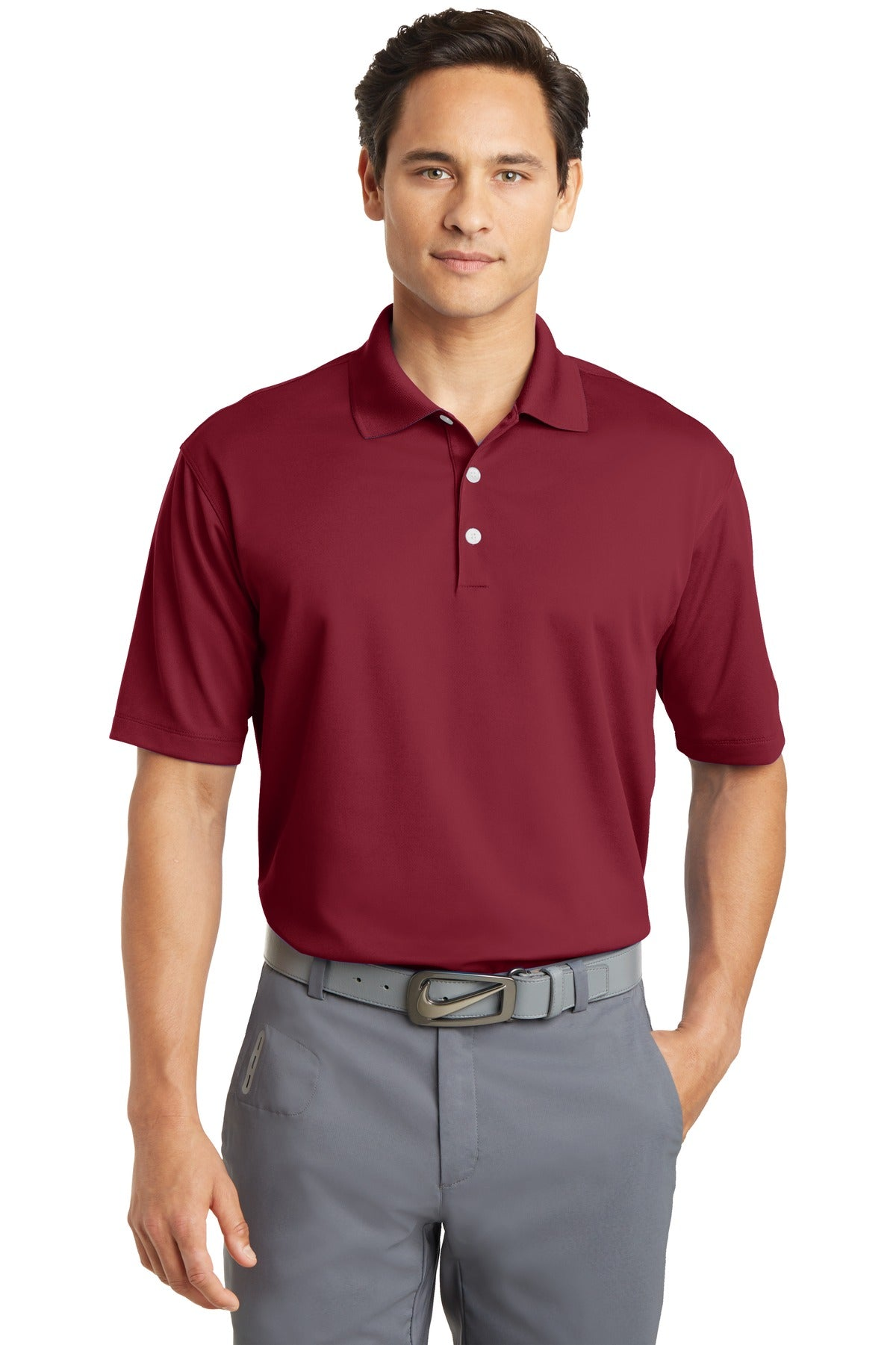 Varsity Red Nike Tall Dri-FIT Micro Pique Polo.