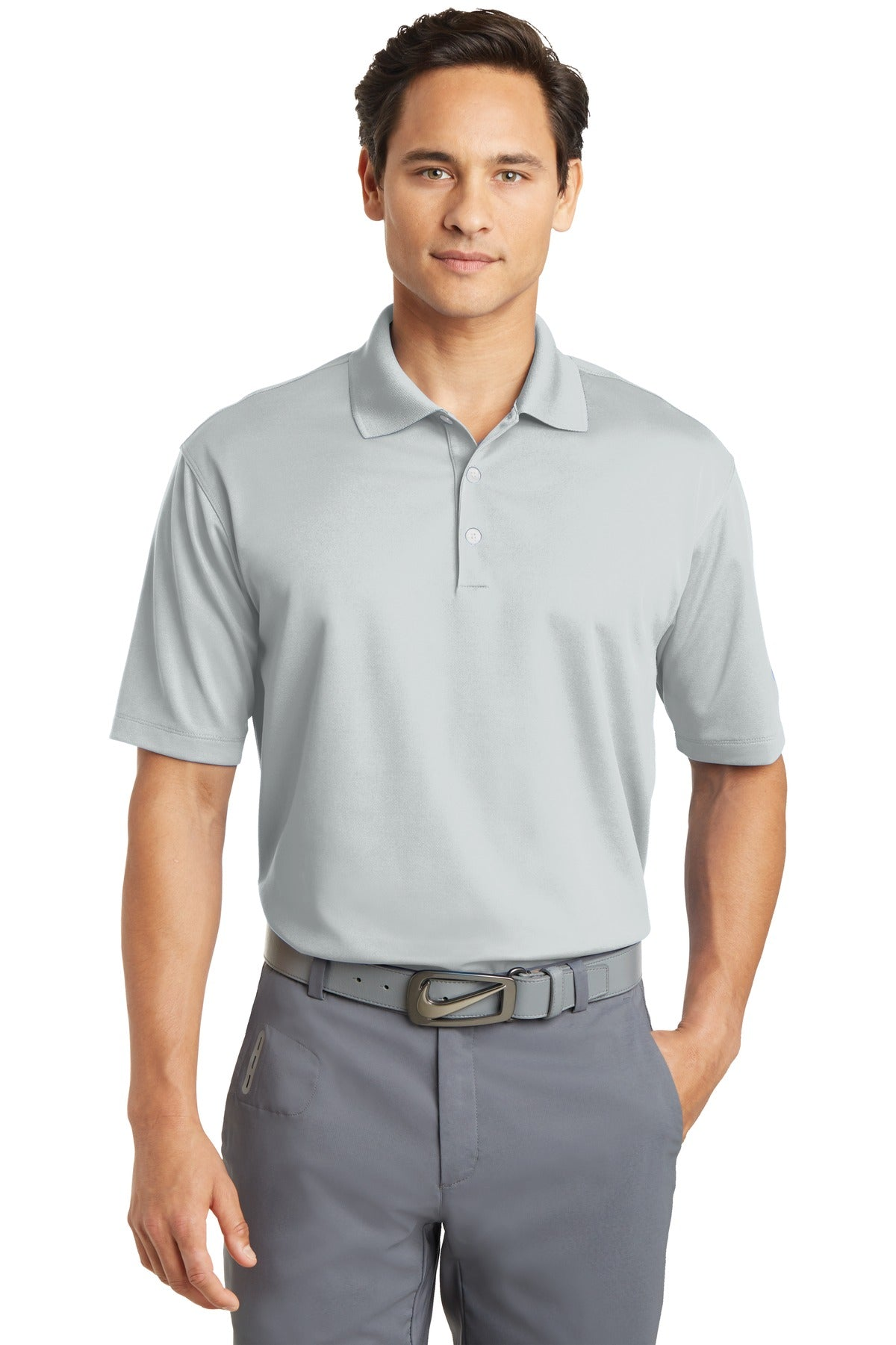 Wolf Grey Nike Tall Dri-FIT Micro Pique Polo.