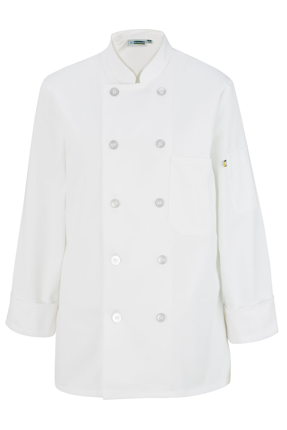 Edwards Ladies 10 Button Long Sleeve Chef Coat