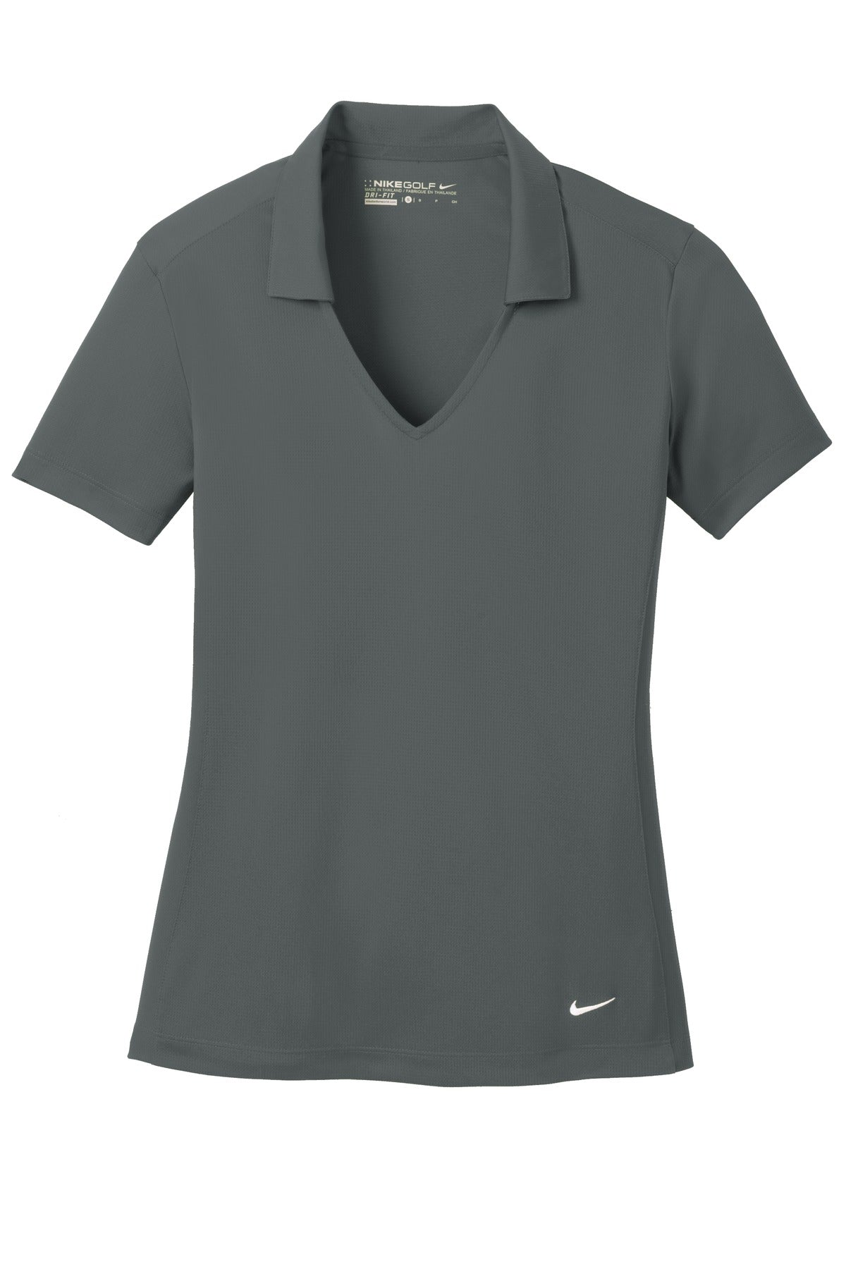 Anthracite Nike Ladies Dri-FIT Vertical Mesh Polo.