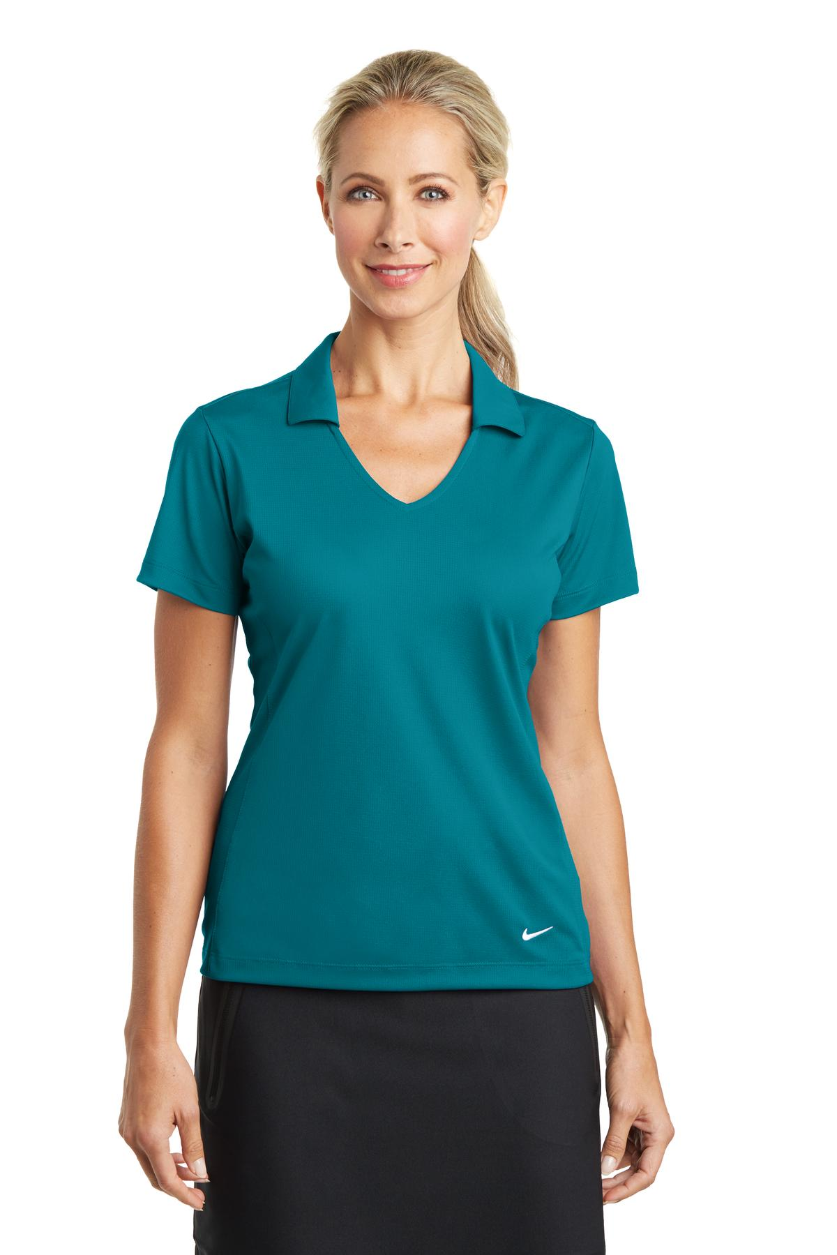 Blustery Nike Ladies Dri-FIT Vertical Mesh Polo.