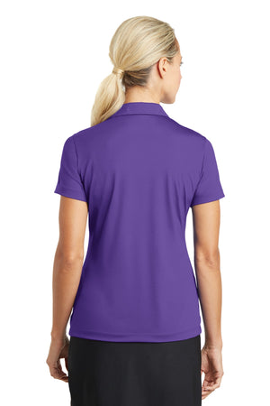Court Purple Nike Ladies Dri-FIT Vertical Mesh Polo.