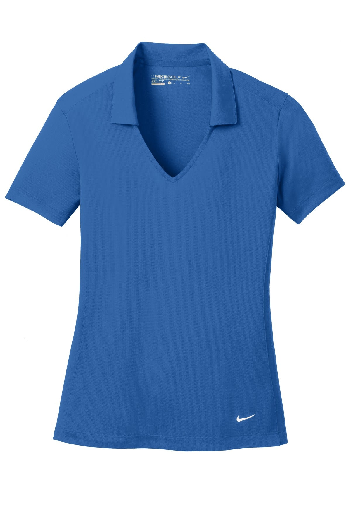 Gym Blue Nike Ladies Dri-FIT Vertical Mesh Polo.