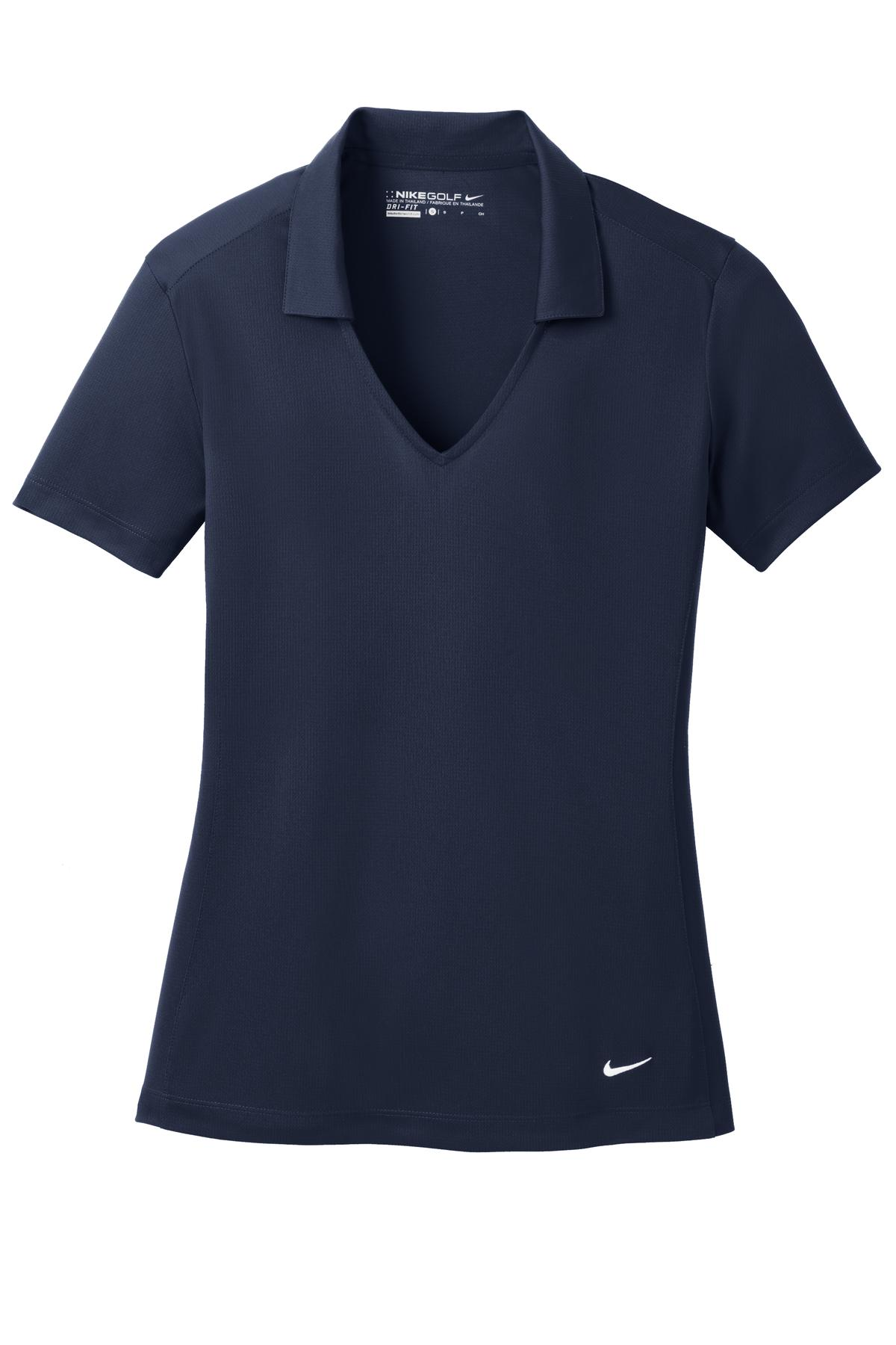 Marine Nike Ladies Dri-FIT Vertical Mesh Polo.