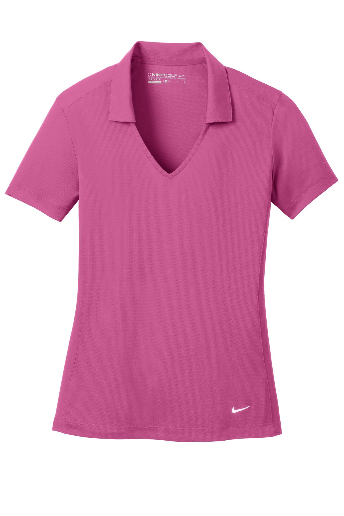 Pink Fire Nike Ladies Dri-FIT Vertical Mesh Polo.
