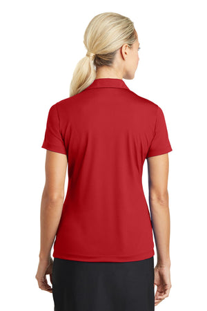 University Red Nike Ladies Dri-FIT Vertical Mesh Polo.