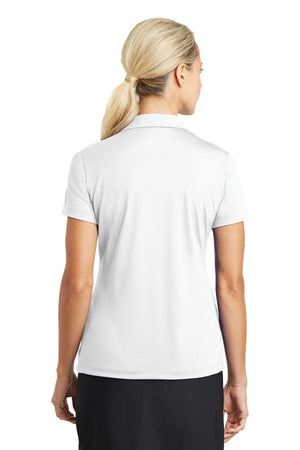 White Nike Ladies Dri-FIT Vertical Mesh Polo.