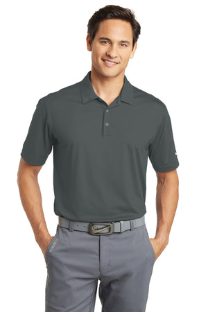 Anthracite Nike Dri-FIT Vertical Mesh Polo.