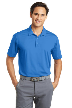 Brisk Blue Nike Dri-FIT Vertical Mesh Polo.
