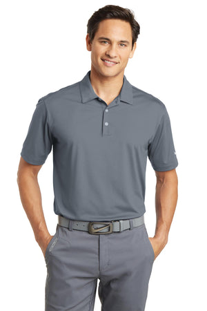 Cool Grey Nike Dri-FIT Vertical Mesh Polo.
