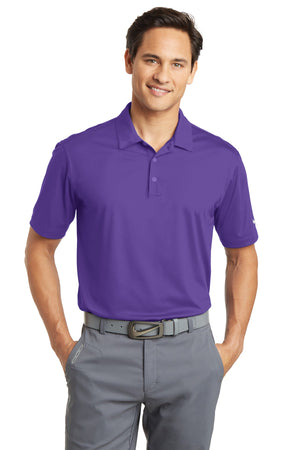Court Purple Nike Dri-FIT Vertical Mesh Polo.