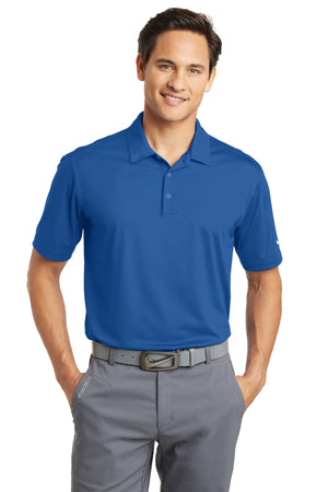 Gym Blue Nike Dri-FIT Vertical Mesh Polo.