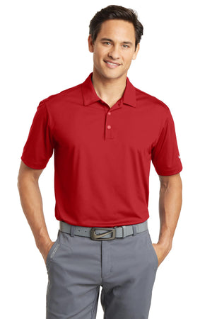University Red Nike Dri-FIT Vertical Mesh Polo.