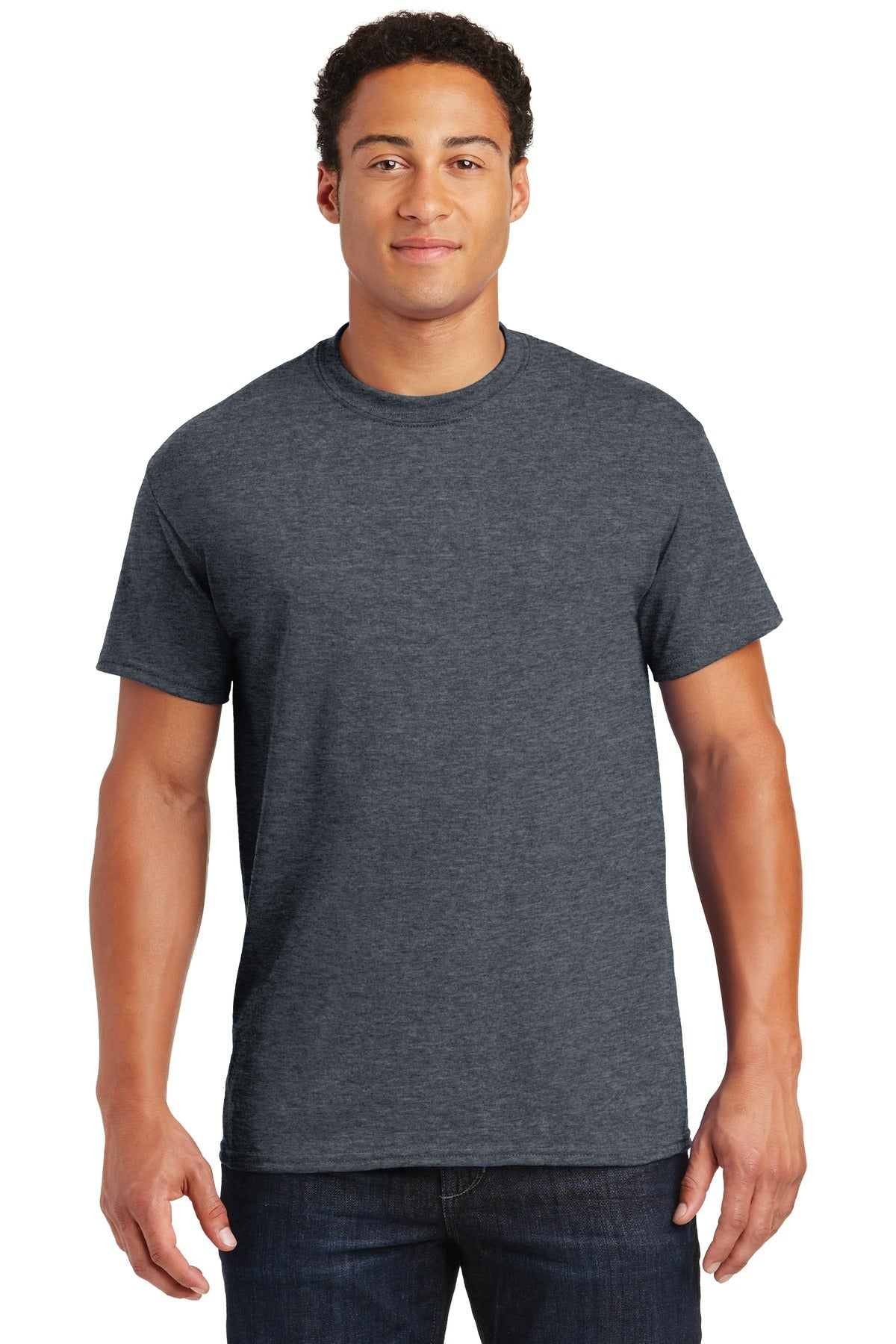 Dark Heather Gildan DryBlend 50 Cotton/50 Poly T-Shirt.