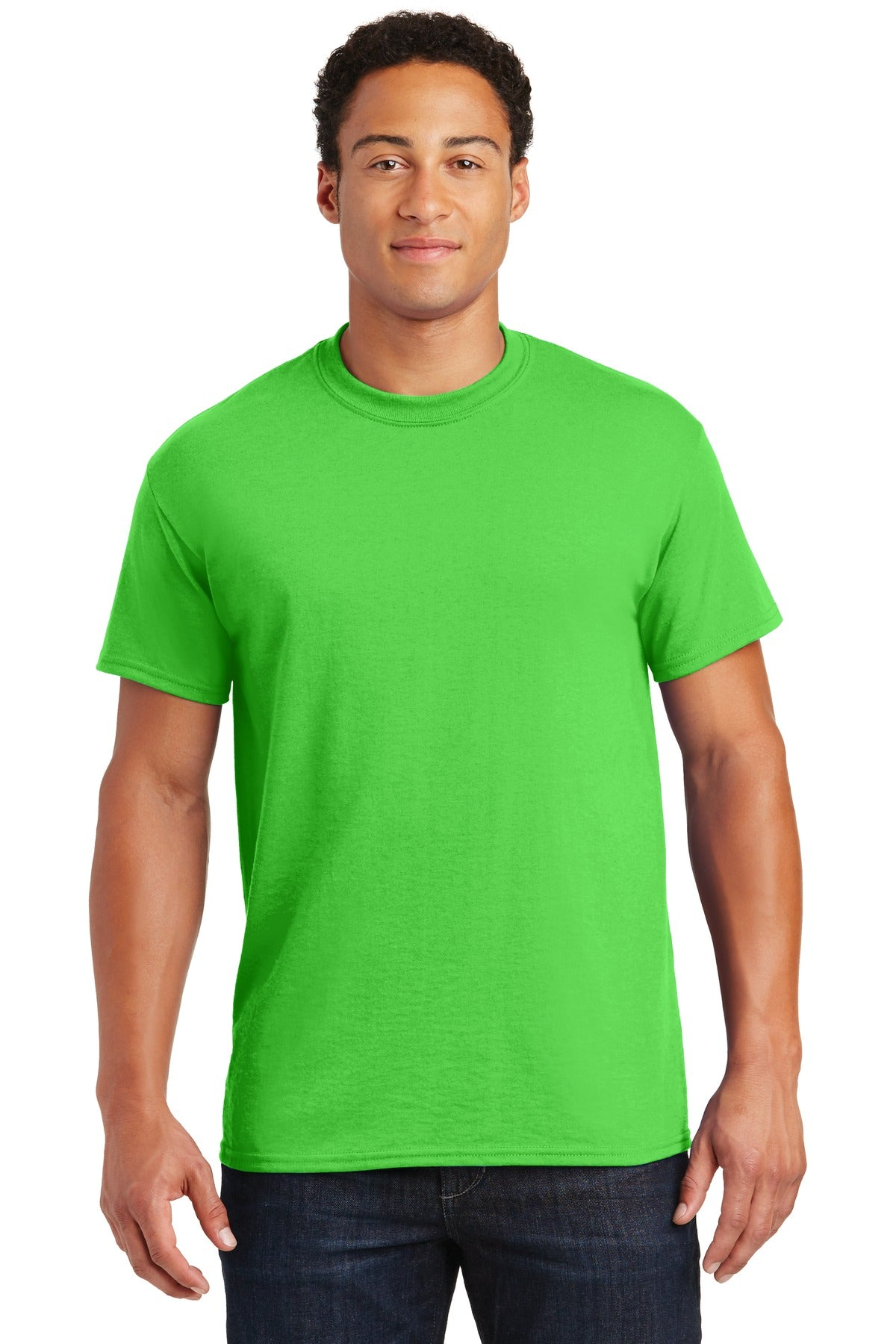 Electric Green Gildan DryBlend 50 Cotton/50 Poly T-Shirt.