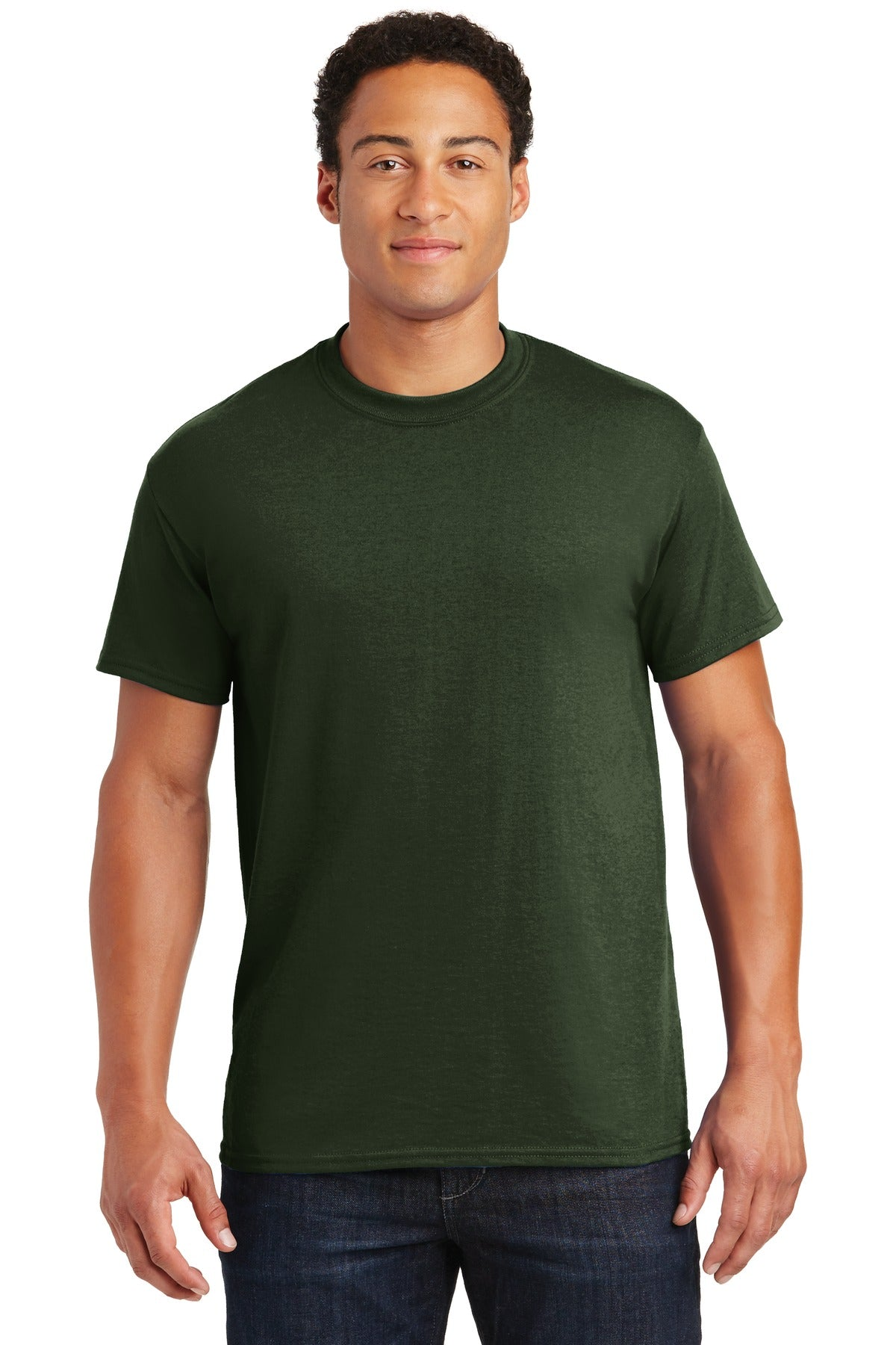 Forest Gildan DryBlend 50 Cotton/50 Poly T-Shirt.