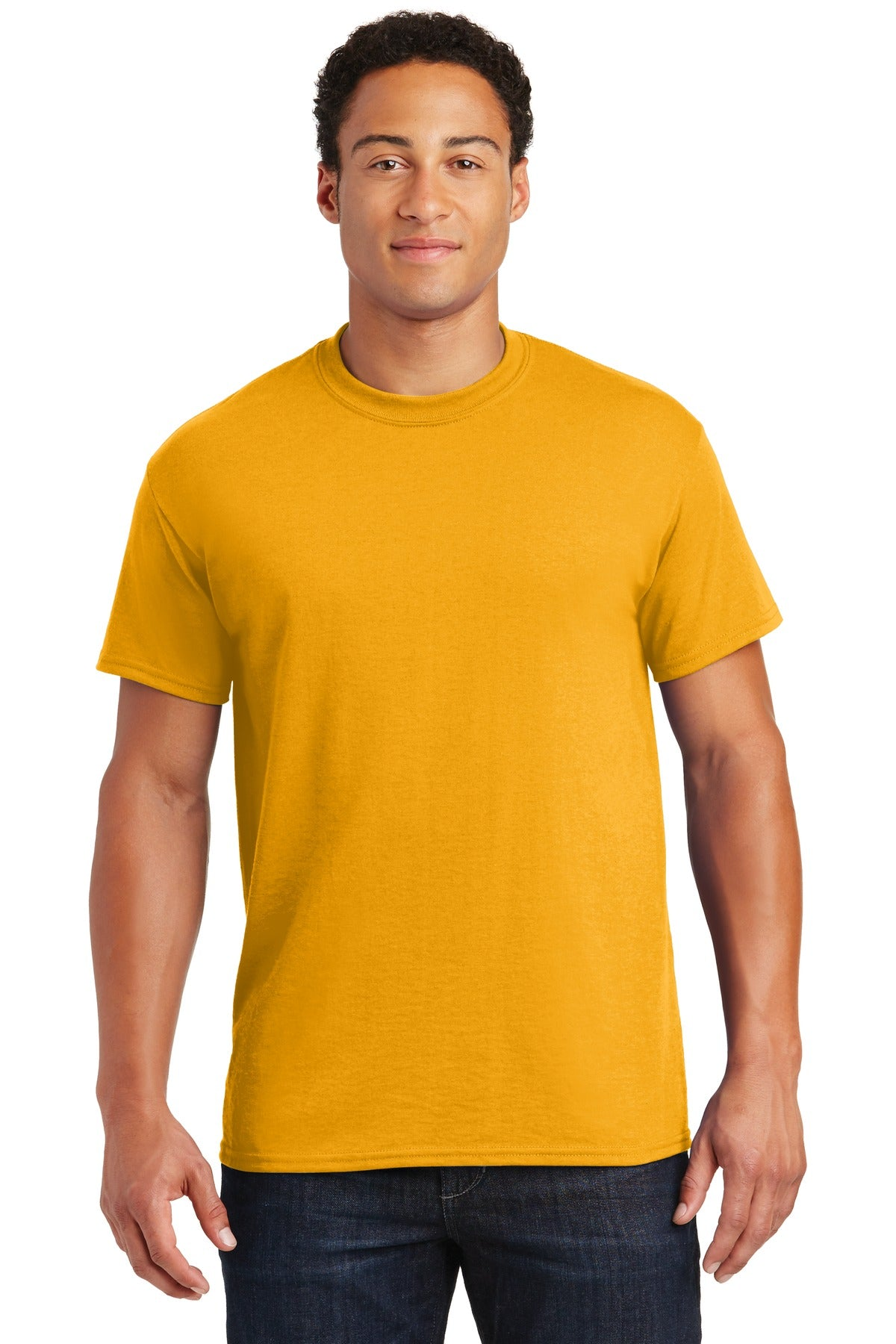 Gold Gildan DryBlend 50 Cotton/50 Poly T-Shirt.