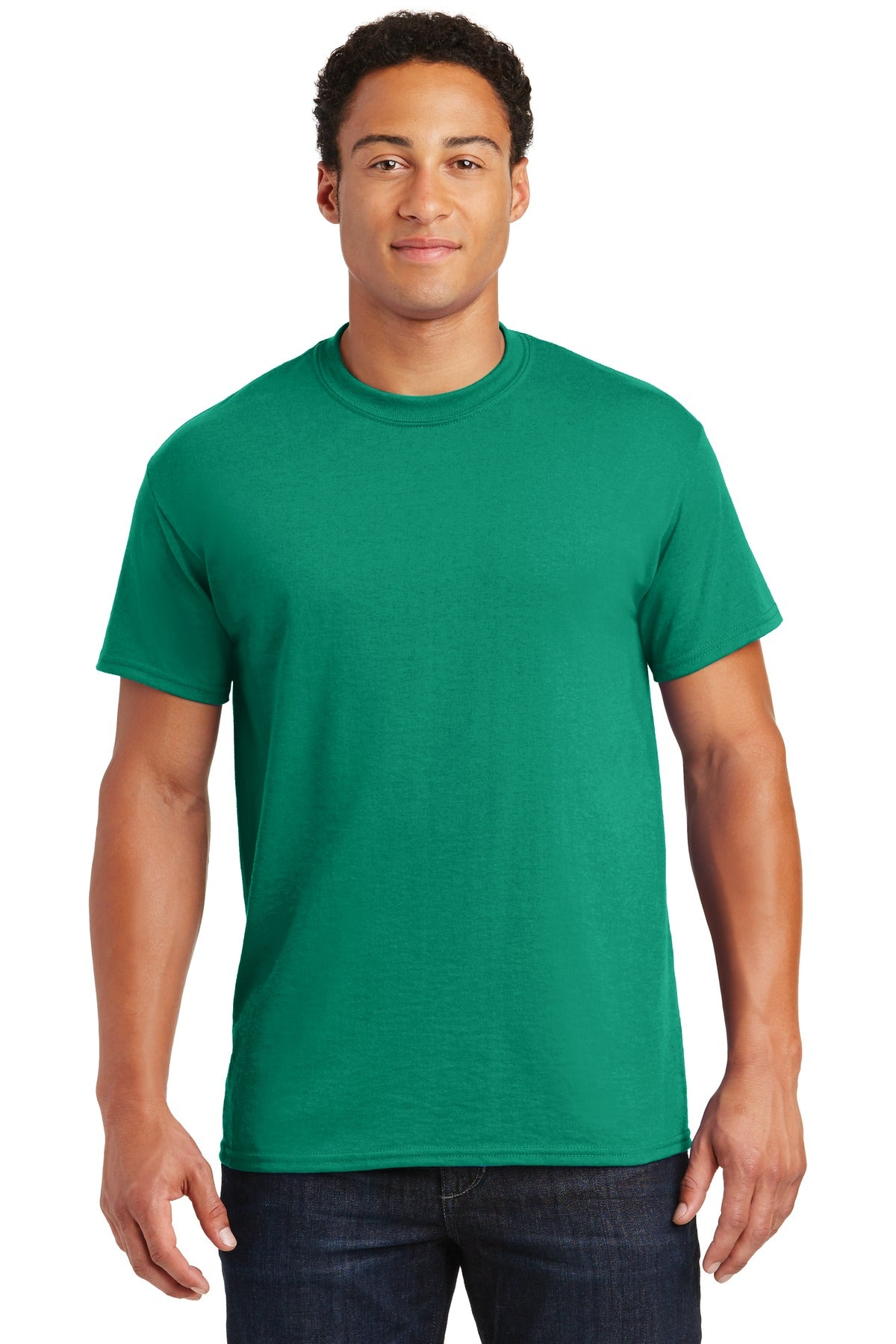 Kelly Green Gildan DryBlend 50 Cotton/50 Poly T-Shirt.