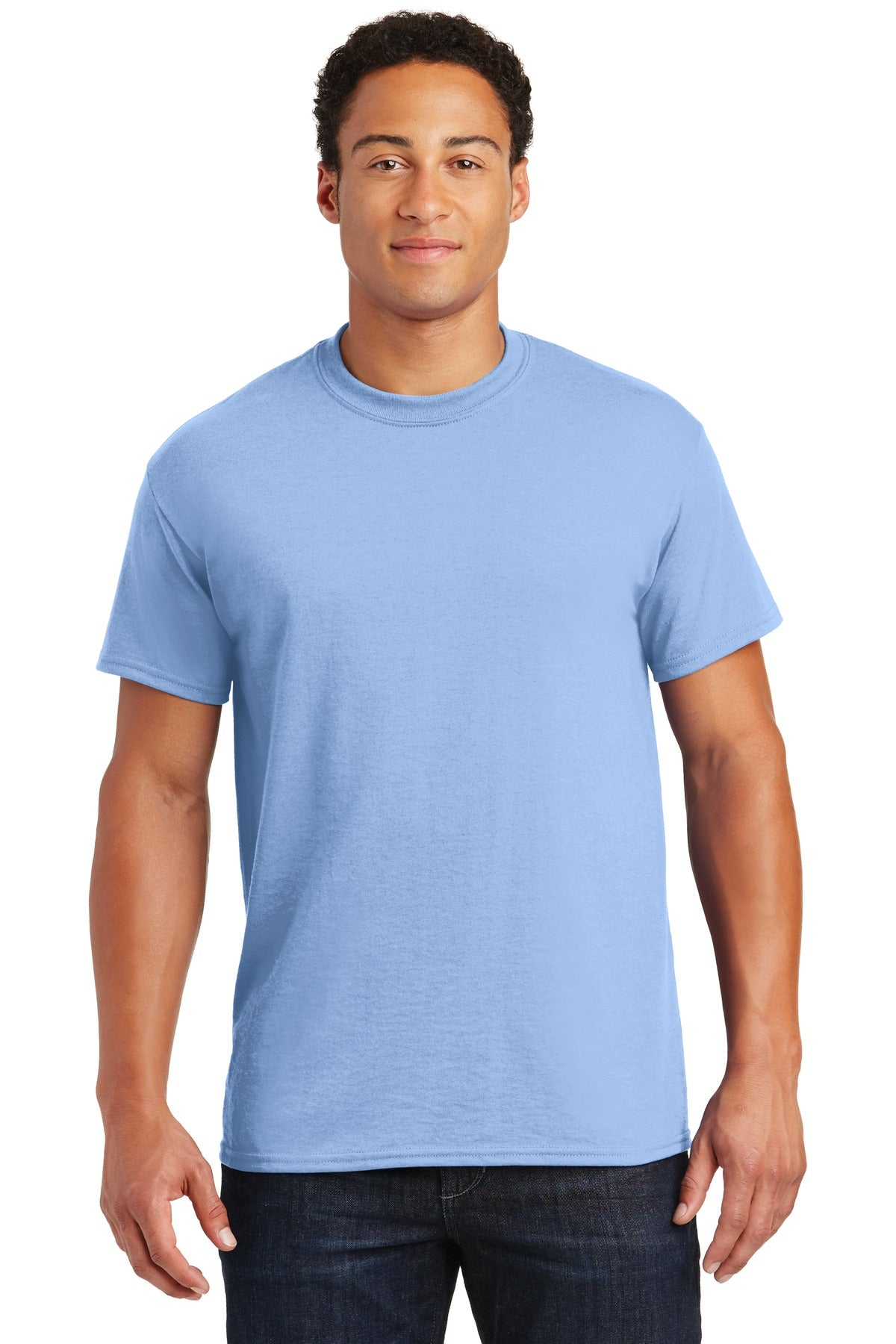 Light Blue Gildan DryBlend 50 Cotton/50 Poly T-Shirt.