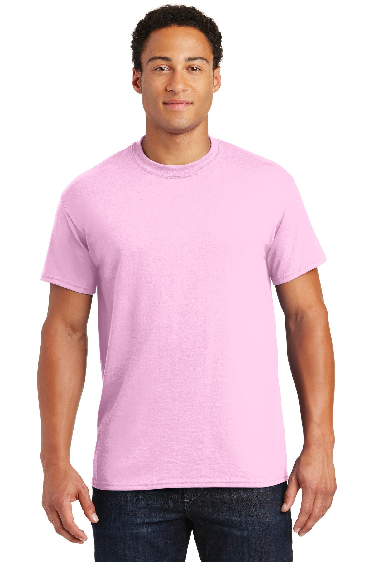 Light Pink Gildan DryBlend 50 Cotton/50 Poly T-Shirt.