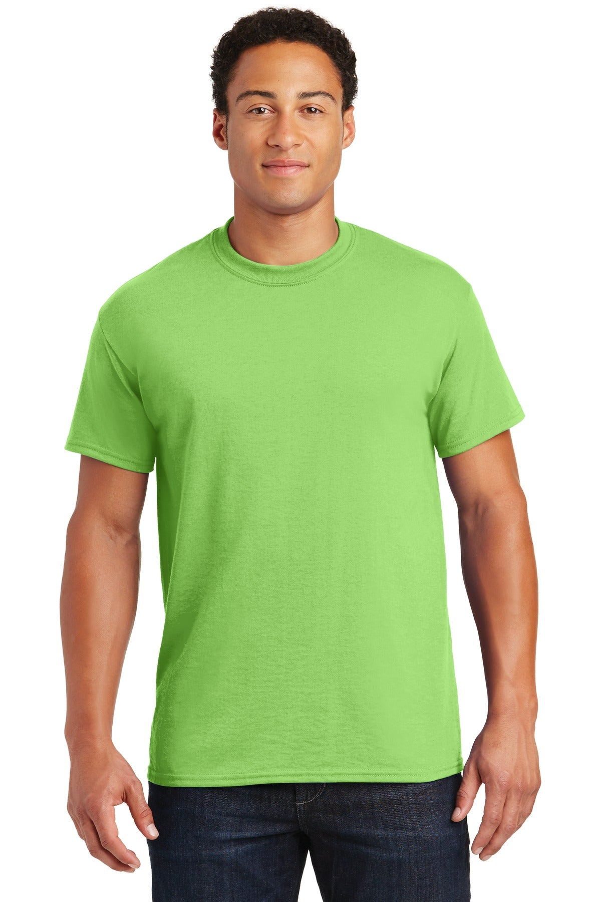 Lime Gildan DryBlend 50 Cotton/50 Poly T-Shirt.