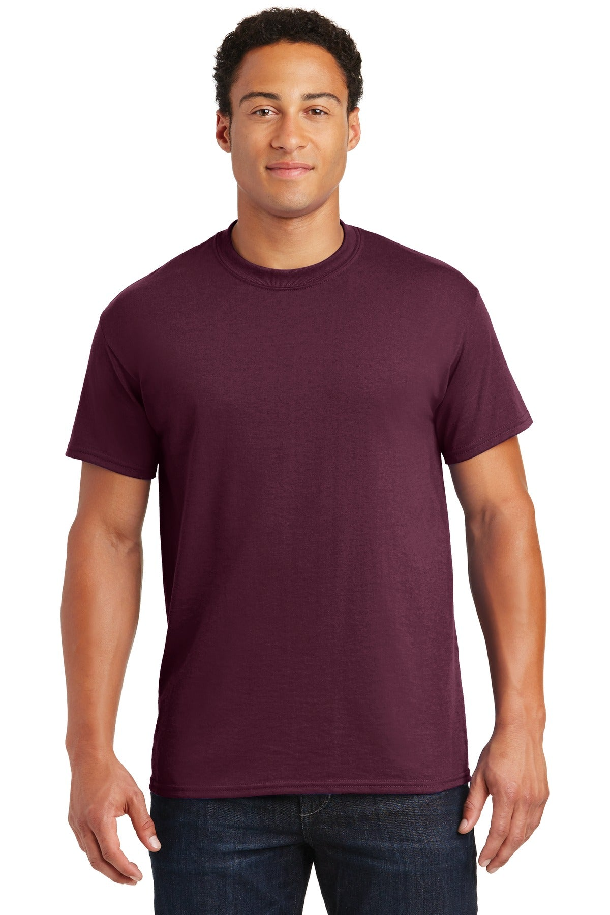 Maroon Gildan DryBlend 50 Cotton/50 Poly T-Shirt.