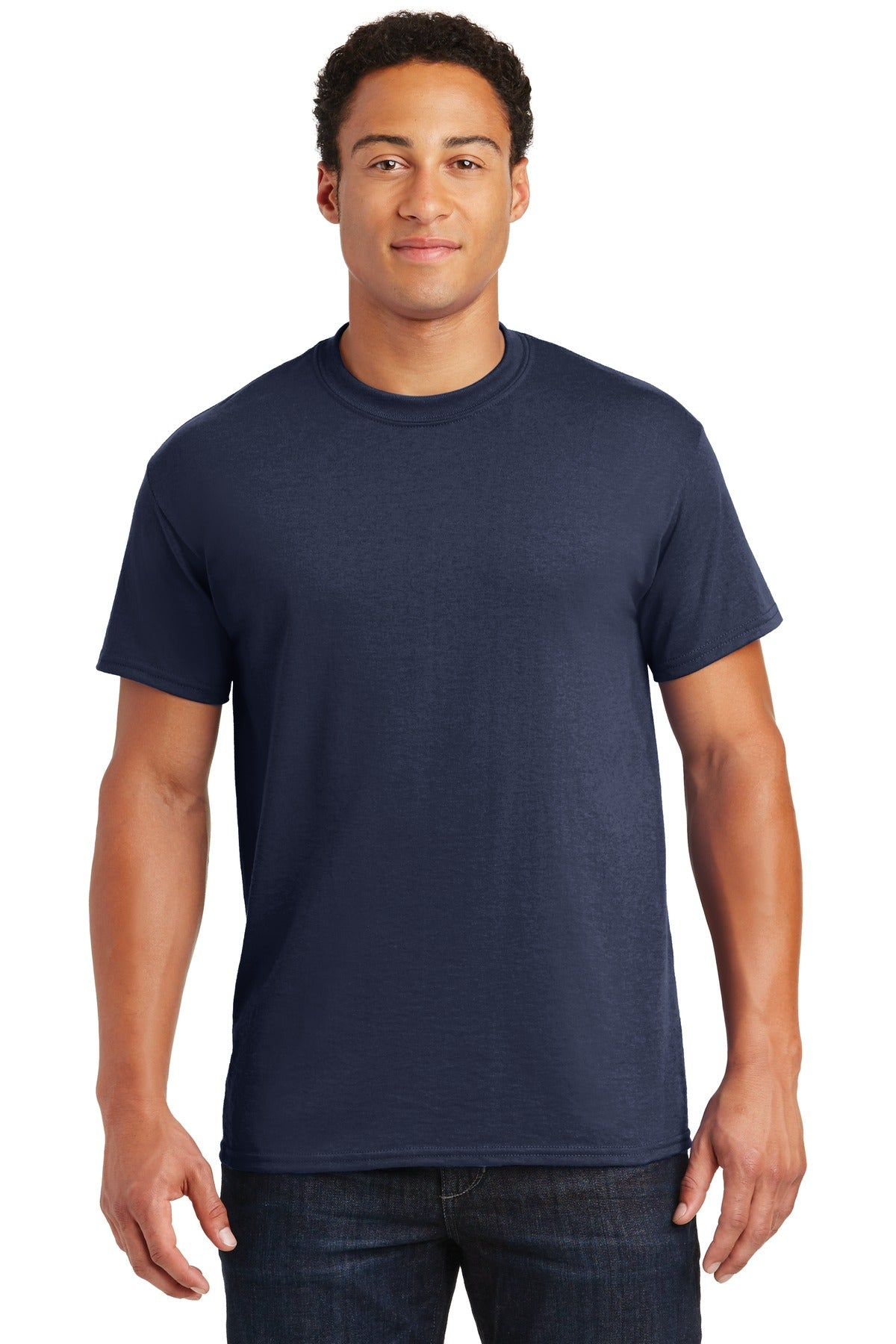 Navy Gildan DryBlend 50 Cotton/50 Poly T-Shirt.