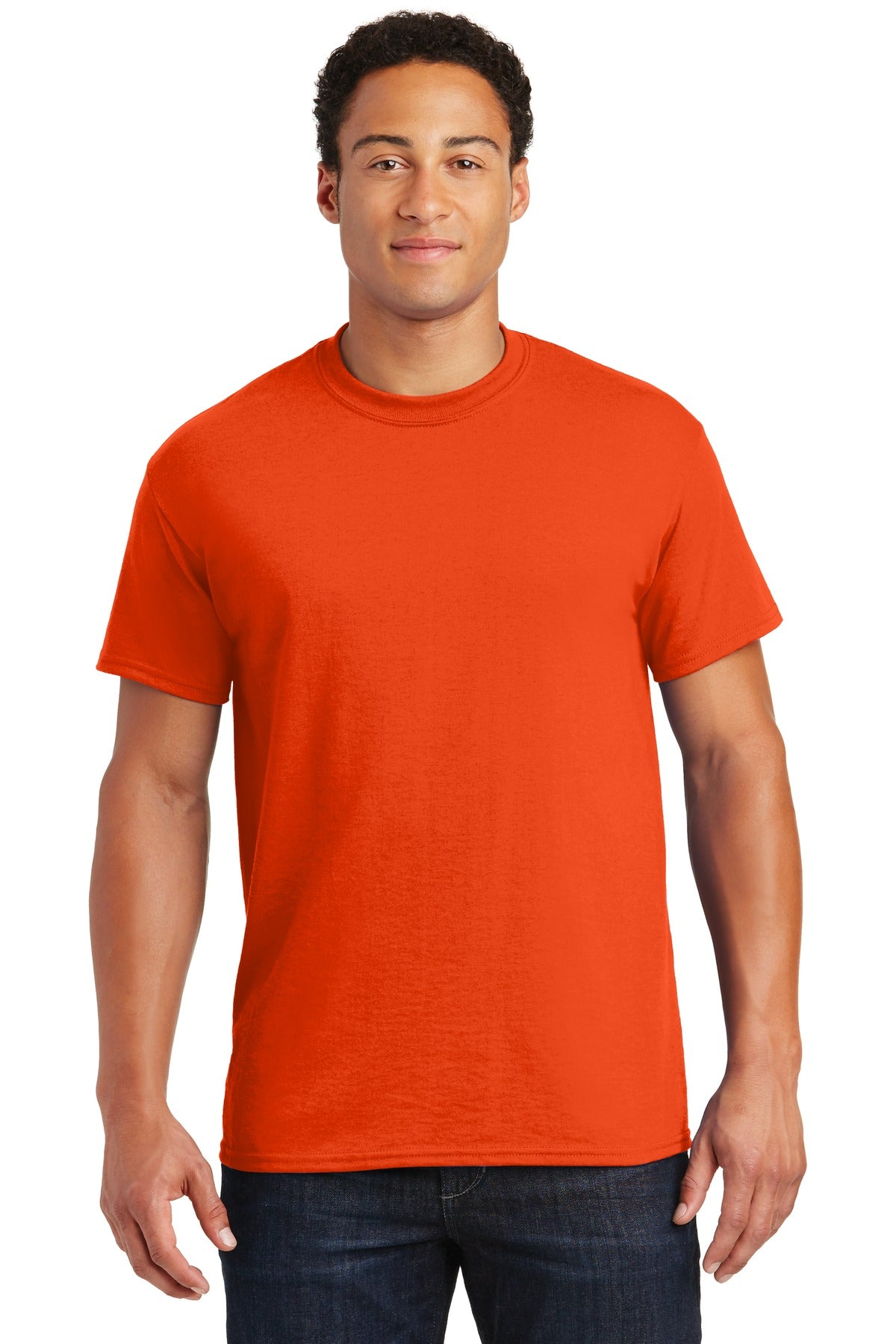 Orange Gildan DryBlend 50 Cotton/50 Poly T-Shirt.