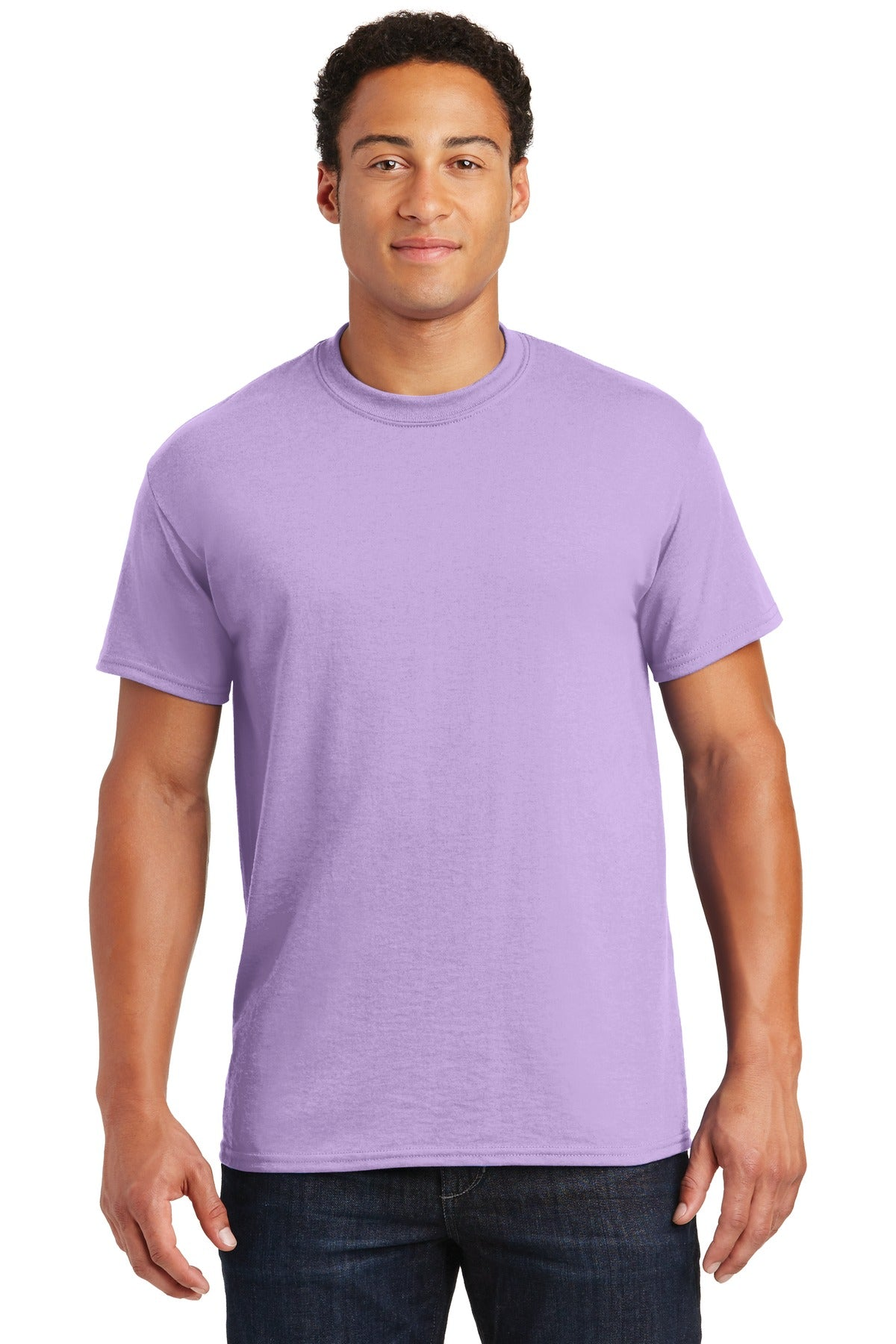 Orchid Gildan DryBlend 50 Cotton/50 Poly T-Shirt.