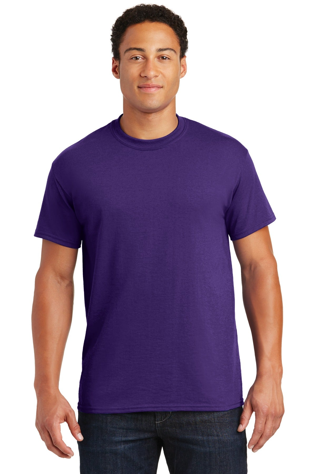 Purple Gildan DryBlend 50 Cotton/50 Poly T-Shirt.