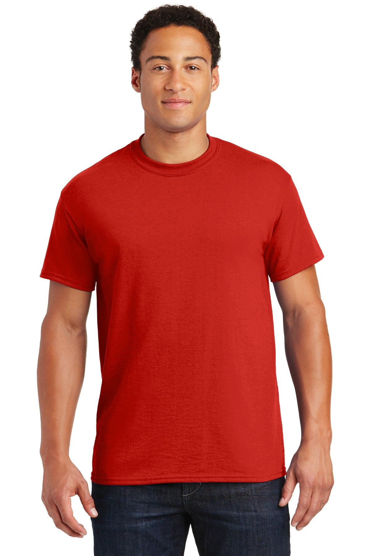 Red Gildan DryBlend 50 Cotton/50 Poly T-Shirt.
