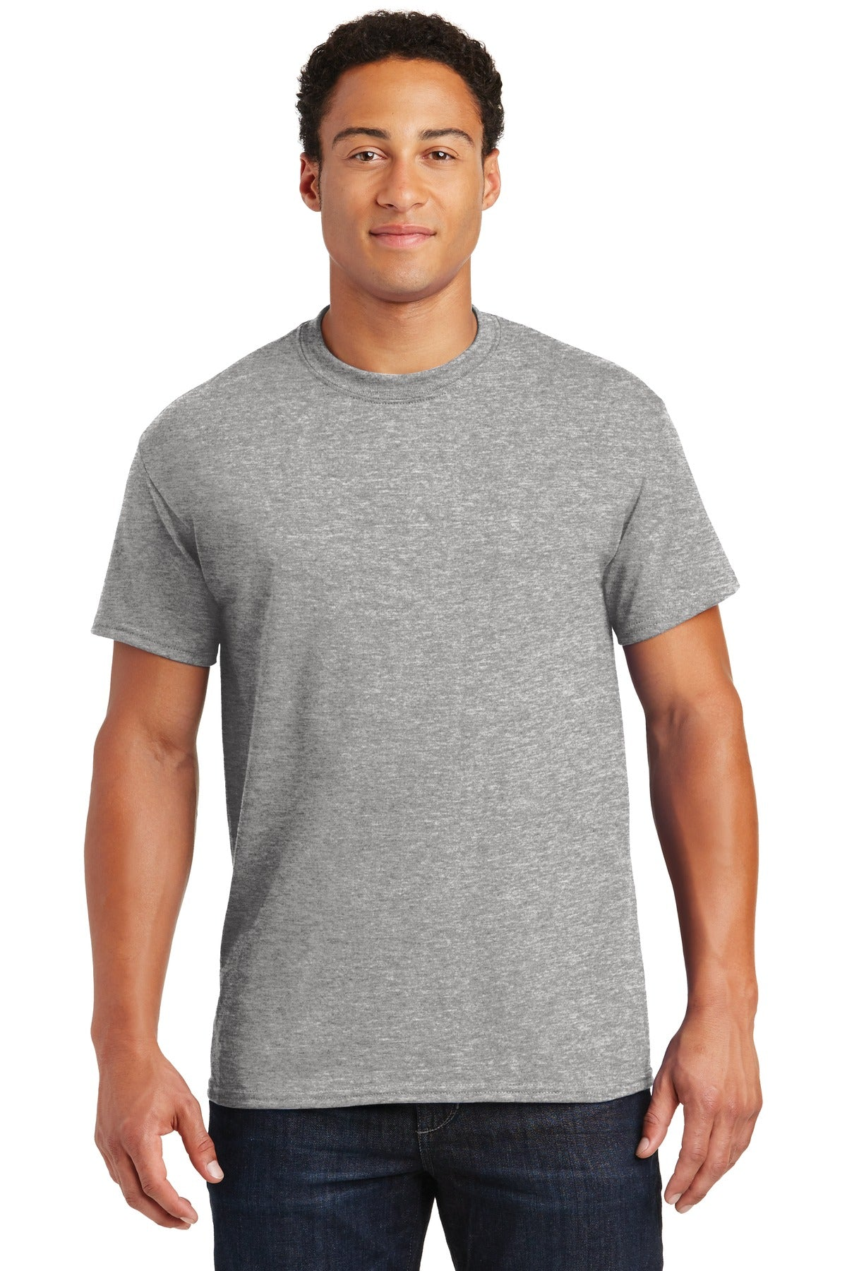 Sport Grey Gildan DryBlend 50 Cotton/50 Poly T-Shirt.