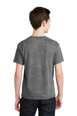 Graphite Heather Gildan Youth DryBlend 50 Cotton/50 Poly T-Shirt.