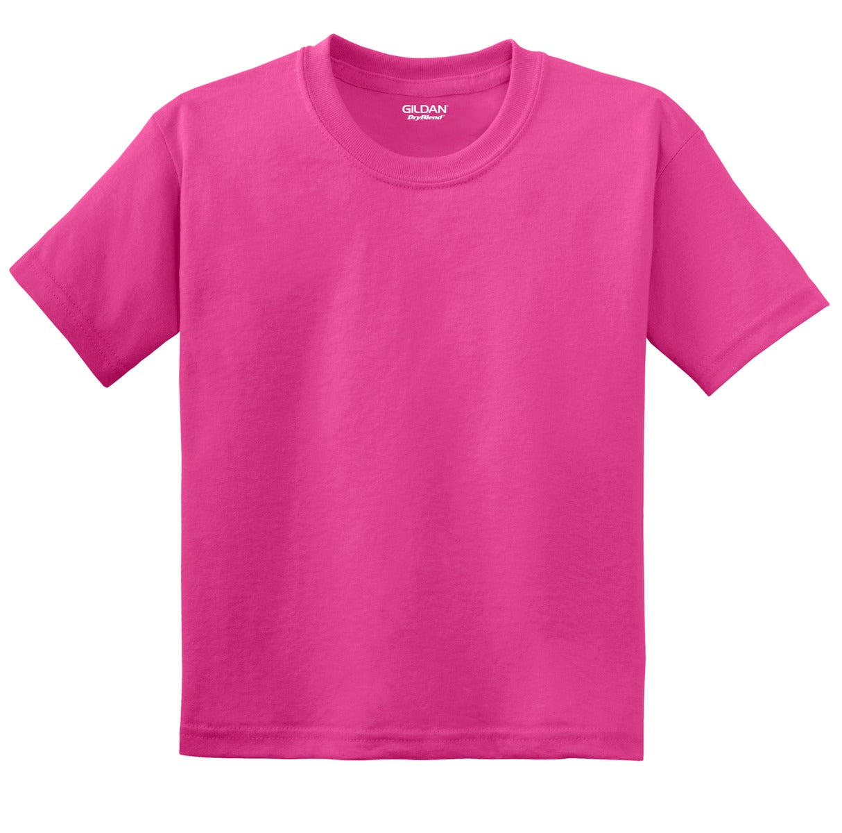 Heliconia Gildan Youth DryBlend 50 Cotton/50 Poly T-Shirt.