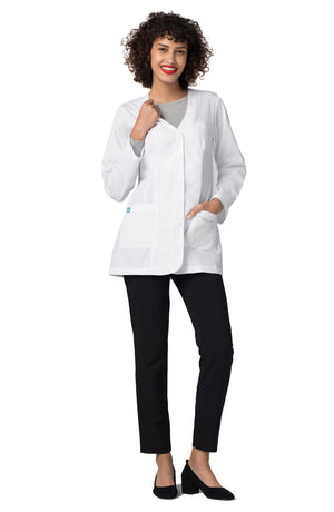 "Adar Universal 31"" Women's Princess V Neck Consultation Coat"