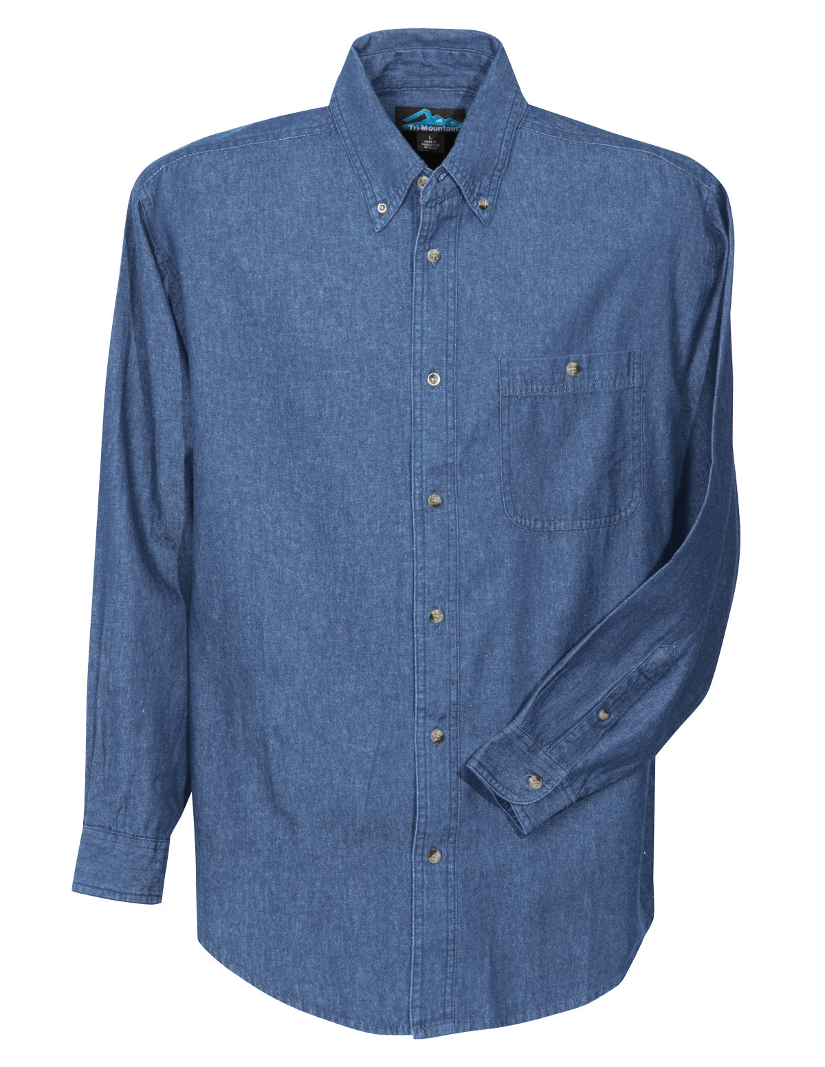Pioneer-Mens Denim Long Sleeve Shirt