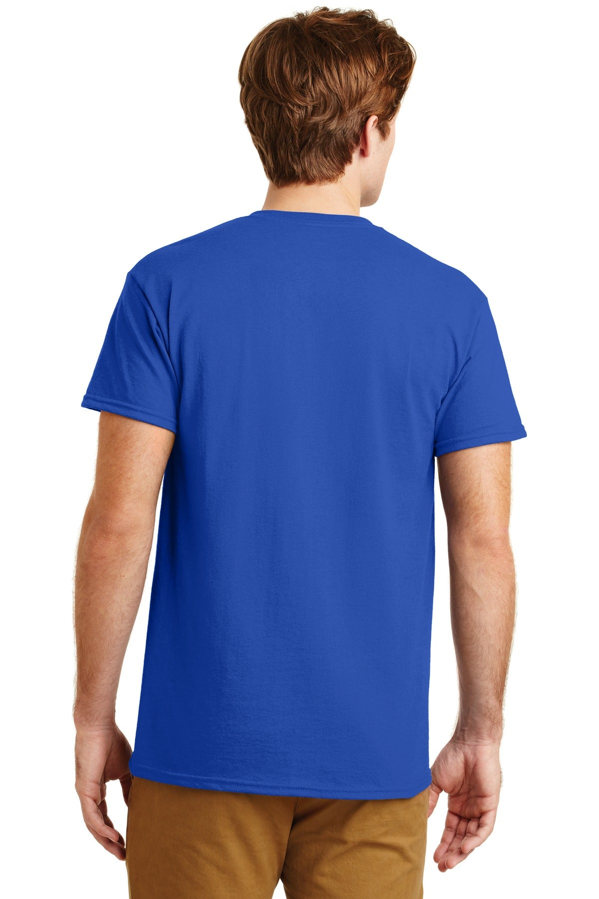 Royal Gildan DryBlend 50 Cotton/50 Poly Pocket T-Shirt.