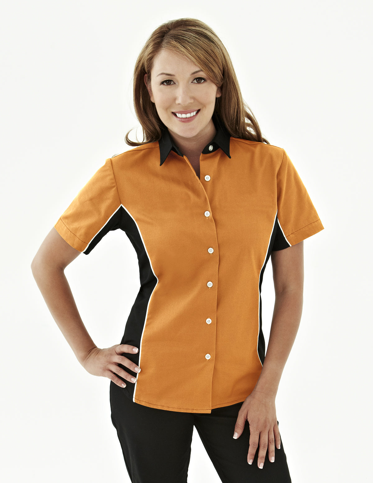 Upshifter-Tmr Womens 60/40 Twill Shirt With Piping