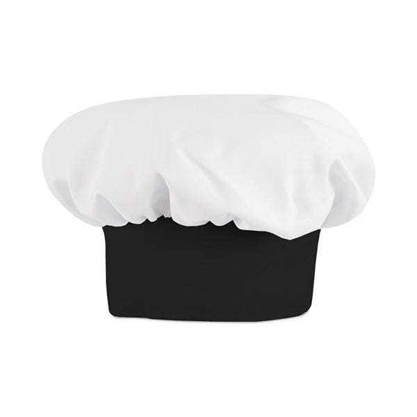 White w/ Black Band Chef Hat