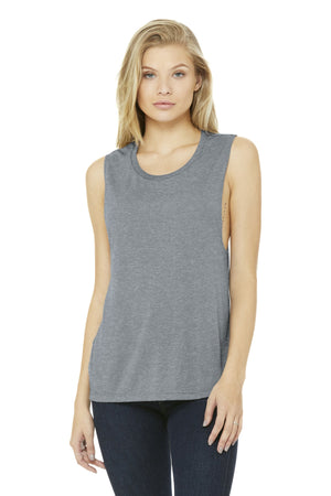 BELLA+CANVAS  Womens Flowy Scoop Muscle Tank