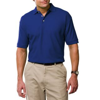 MENS SHORT SLEEVE 100% COTTON PIQUE POLO