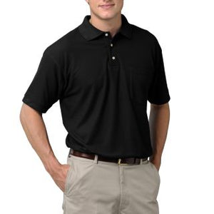 MENS SHORT SLEEVE SUPERBLEND PIQUE WITH POCKET