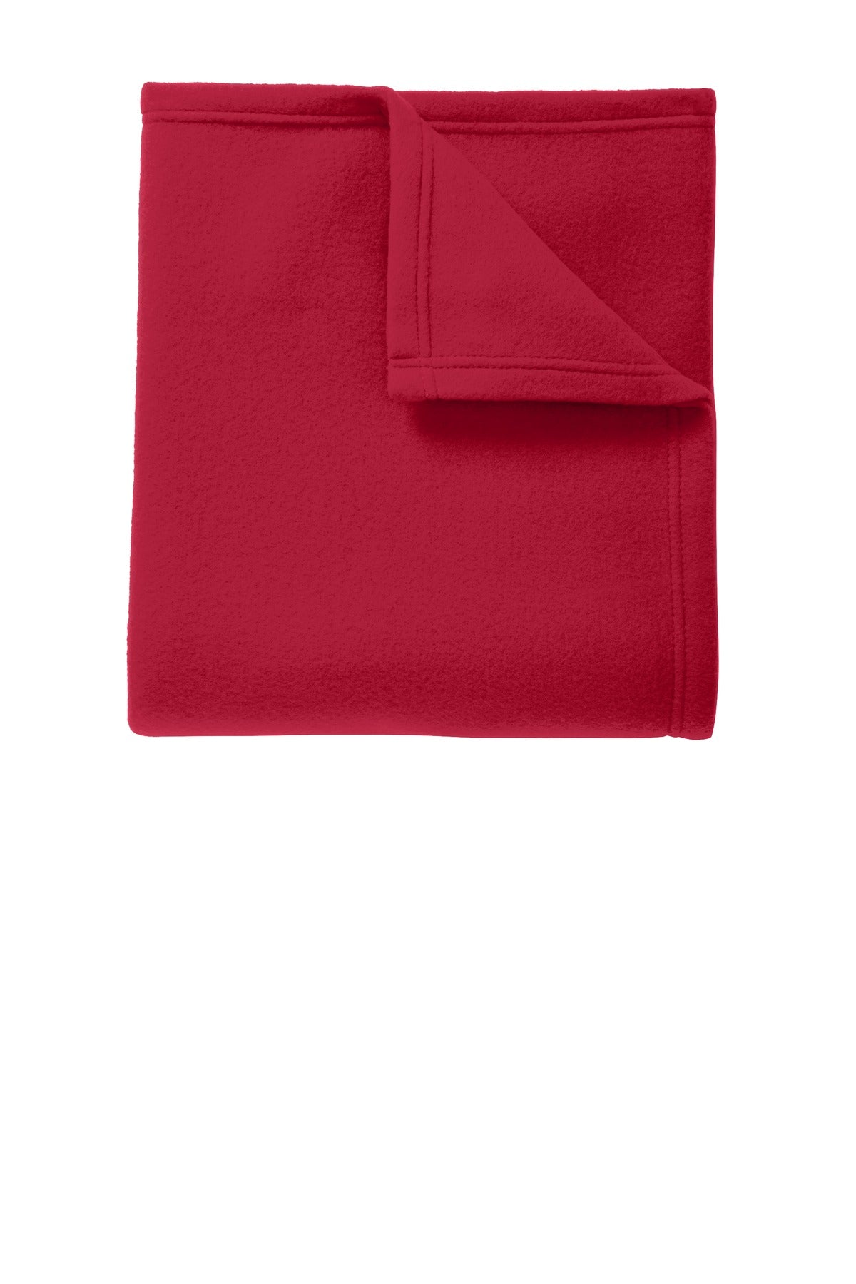 Rich Red Port Authority Core Fleece Blanket.