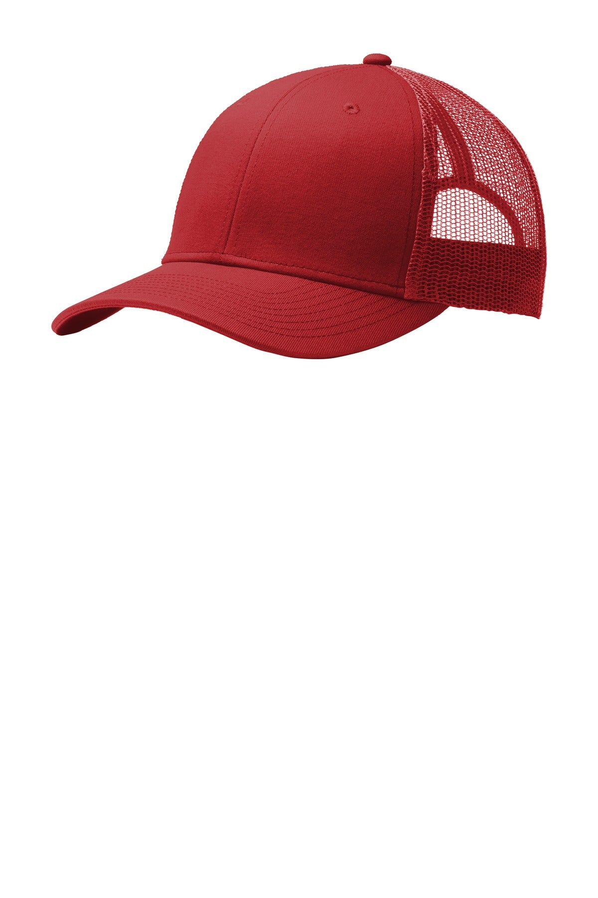 Flame Red Port Authority Snapback Trucker Cap