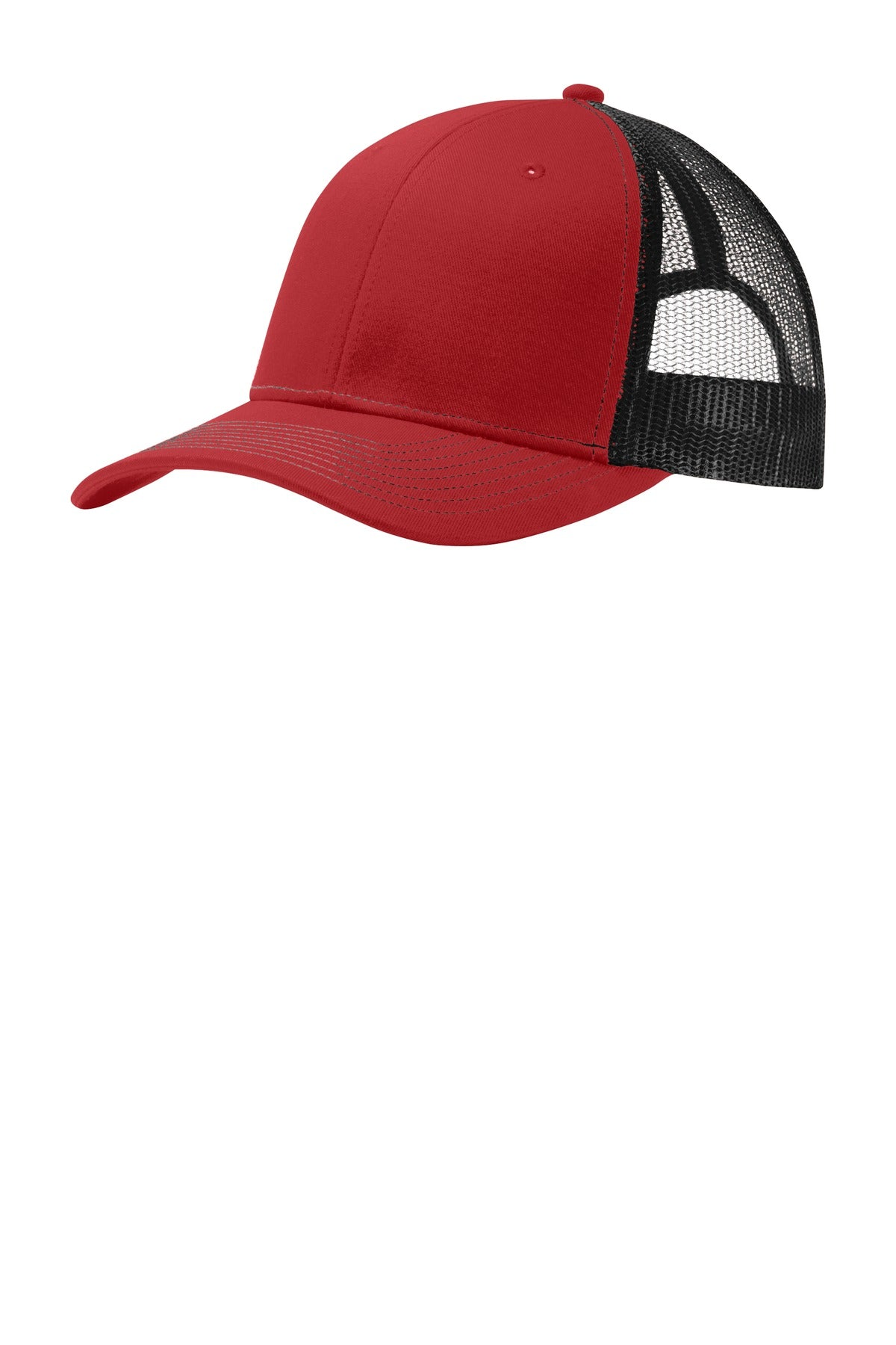 Flame Red / Black Port Authority Snapback Trucker Cap