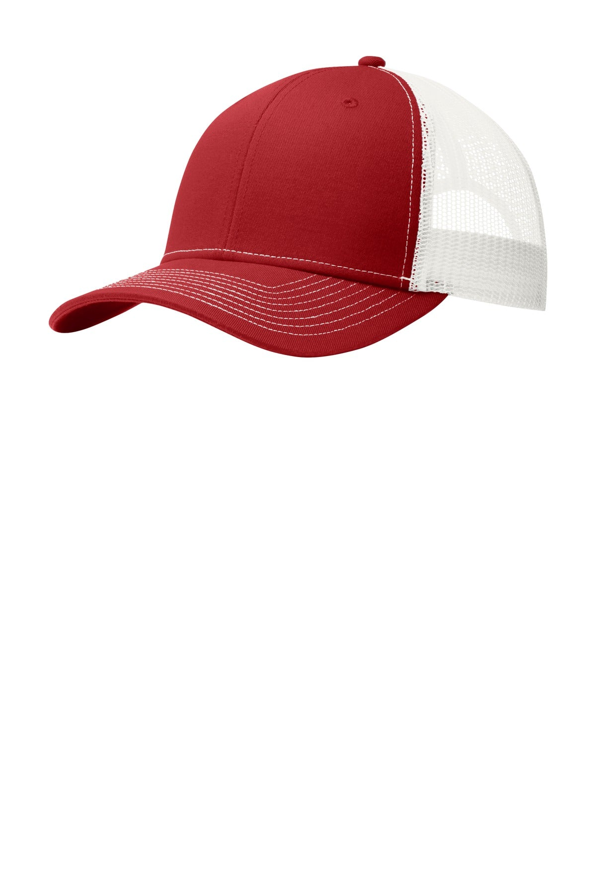 Flame Red / White Port Authority Snapback Trucker Cap